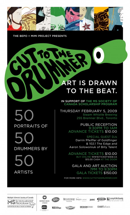 Cut To The Drummer Flyer by Rosemary Travale