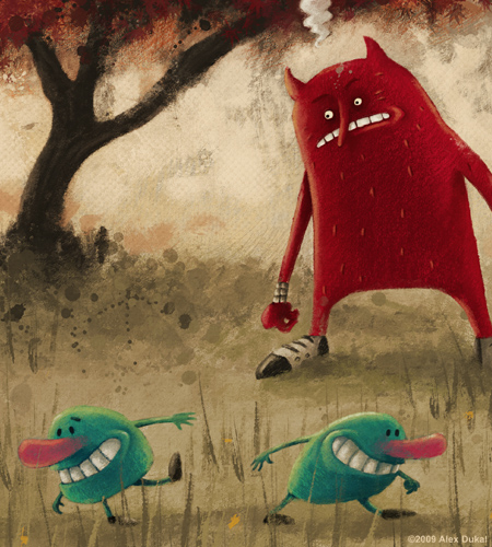 Red Demon & the waders plums