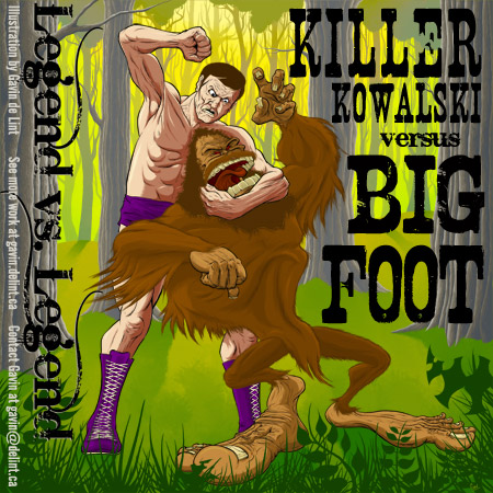 Killer Kowalski versus Big Foot