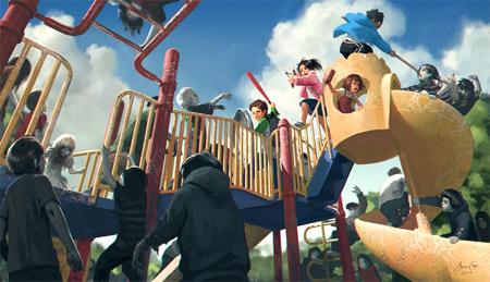 New Jason Chan Print: Zombie Playground