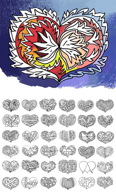 three Dozen Hearts