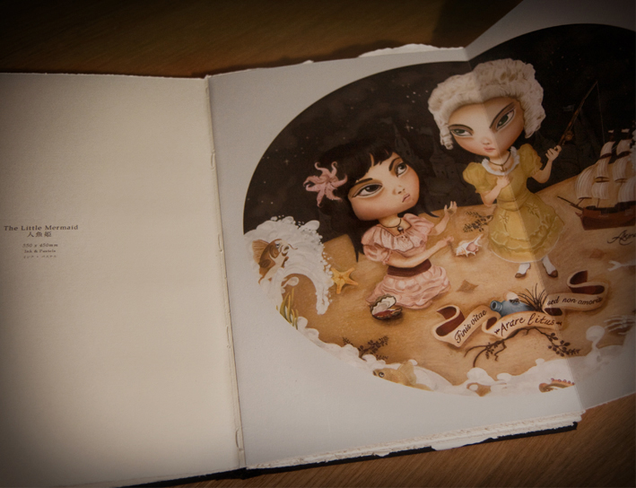 Akina's 'The Little Mermaid' ltd. Edition handcrafted book