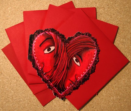 Valentine's day cards by Alison Cardinale