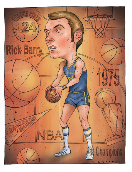 Rick Barry by Greaney
