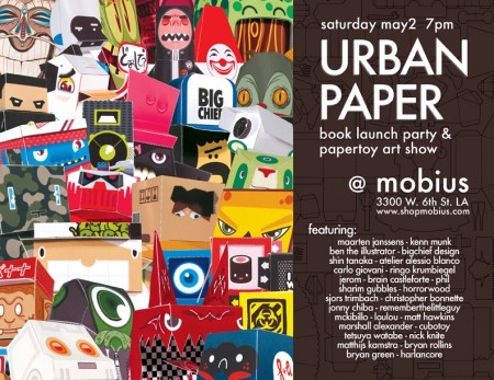 Urban Paper Launch Party and Papertoy Show