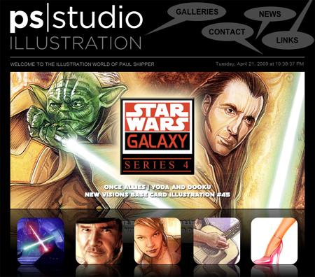 ps|studio illustration site updated