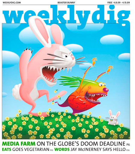 Weekly Dig Cover Art by Jeff Miracola