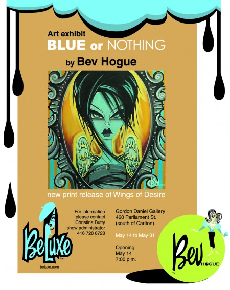 Bev Hogue BLUE OR NOTHING solo show