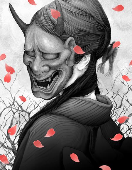The mask she wears