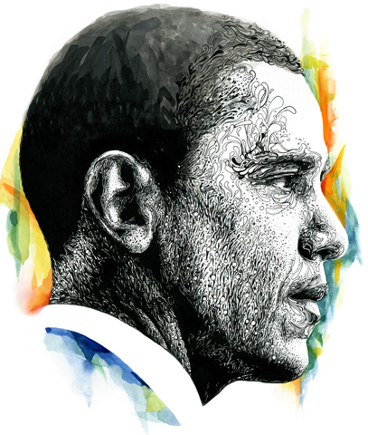 Barack Obama Portrait on Etsy