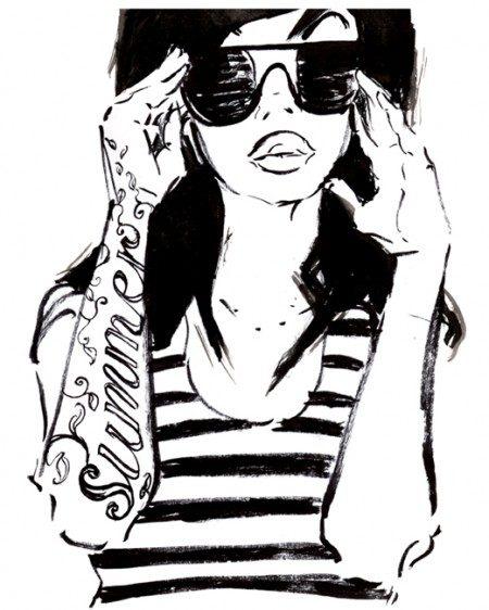 summer ink illustration