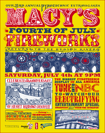 Macy's July 4th Fireworks Poster