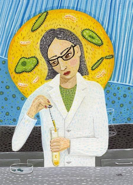 Christine Marie Larsen Illustration: Scientist Promo