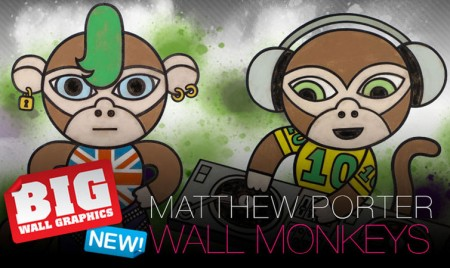 Matthew Porter Repositional Wall Stickers