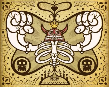 Chogrin-Toro-Rojo-Luchador-Dia de Los Muertos Show-Autumn Society