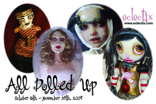 """""""All Dolled Up"""" Exhibit Postcard"""