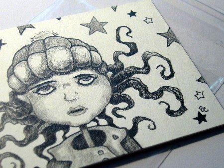 Sad Girl With Stars