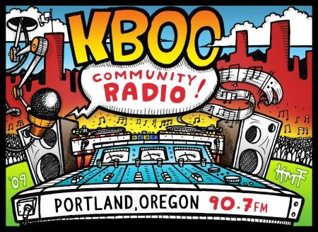 KBOO Community Radio Collateral Artwork