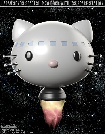 cartoon-spotprent-satire_hello-kitty-spacecraft-ruimteschip