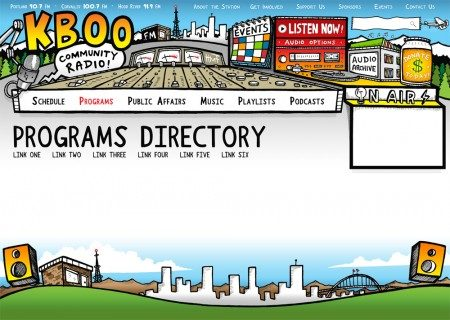 KBOO Community Radio Website