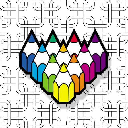 Pattern Pencils by Carlton Hibbert