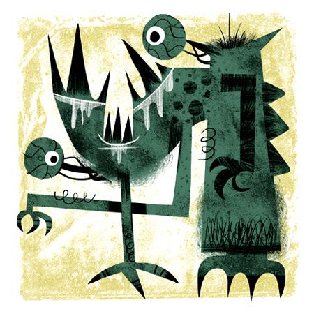 Michael Slack -Mod Monsters: Prints & Buttons