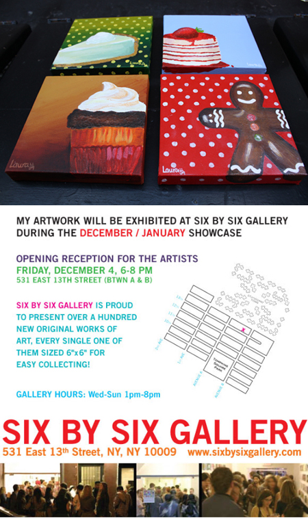 EXHIBITION at 6x6 Gallery - NY