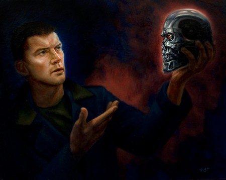 Sam Worthington Terminator Salvation Illustration