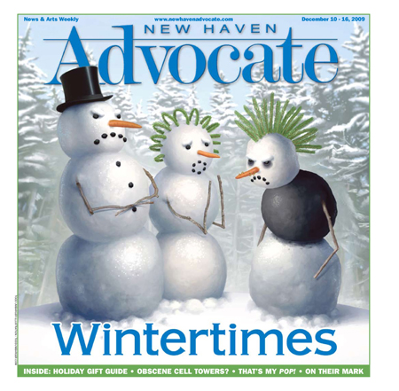 New Haven Advocate Wintertimes Cover by Todd Umbarger