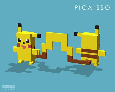 grafisch-ontwerp-graphic-design-voxels-3d-pixels_picachu-picasso-stylized