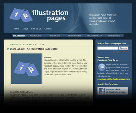 Illustration Pages Screen Shot