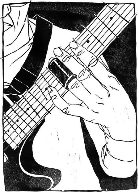 Bottleneck slide guitar