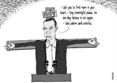 tiger woods apology cartoon