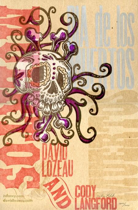 Dia De Los Muertos Letterpress Poster