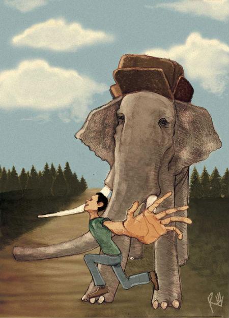 Elephant Illustration by Regularhands