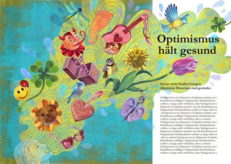 Optimism makes you healthy