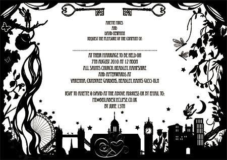 custom illustrated wedding invites