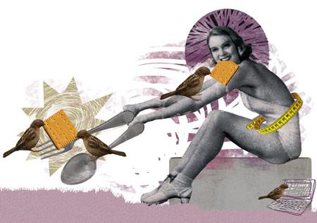 Collage Illustration for Wienerin Magazine
