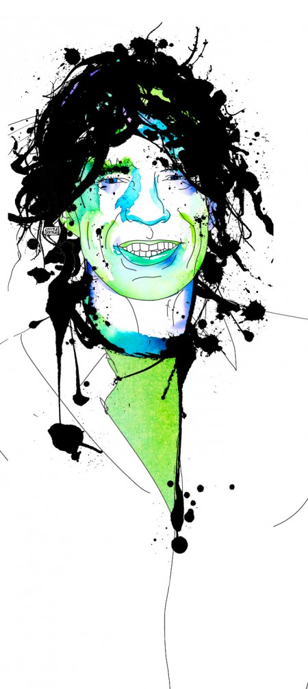 Mick Jagger illo for High Times by Louisa Bertman