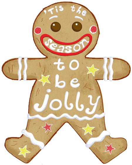 Gingerbread Man by ardillustration