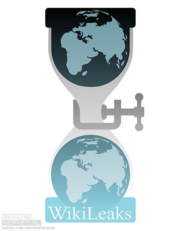 Sevensheaven WikiLeaks logo parody