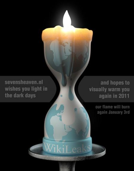 Sevensheaven WikiLeaks logo satire