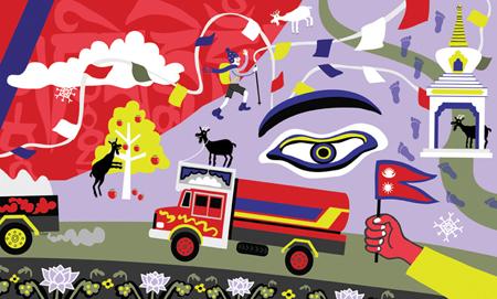 Nepal by ardillustration