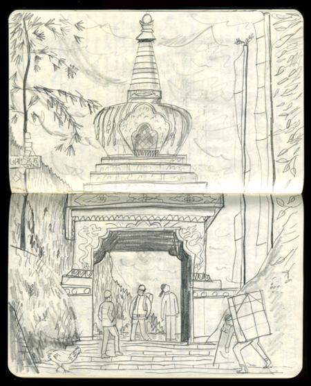 Nepal Sketchbook by ardillustration
