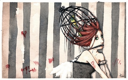 My love is a caged bird