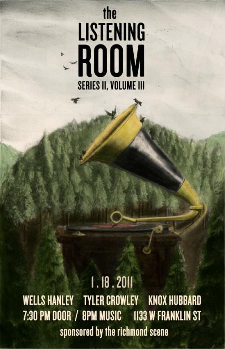 Listening Room poster by Matt Clough