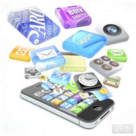 Apple iPhone apps icons by Sevensheaven.nl
