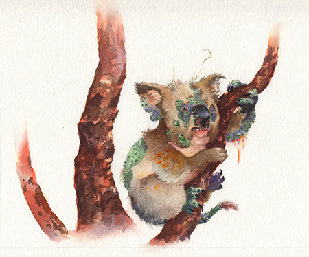 Warty Koala for 826DC Museum of Unnatural History