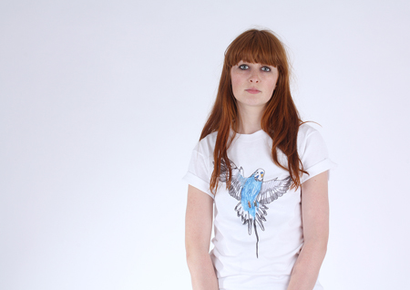 Budgie Rule T-shirt for women by asa wikman