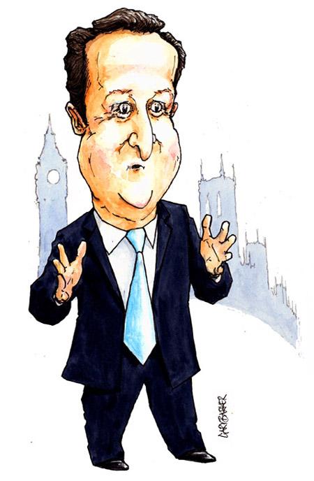 David Cameron caricature lcs